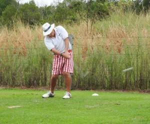 Golfer Tee Shot