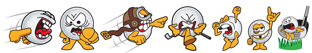 Angry Golf Balls