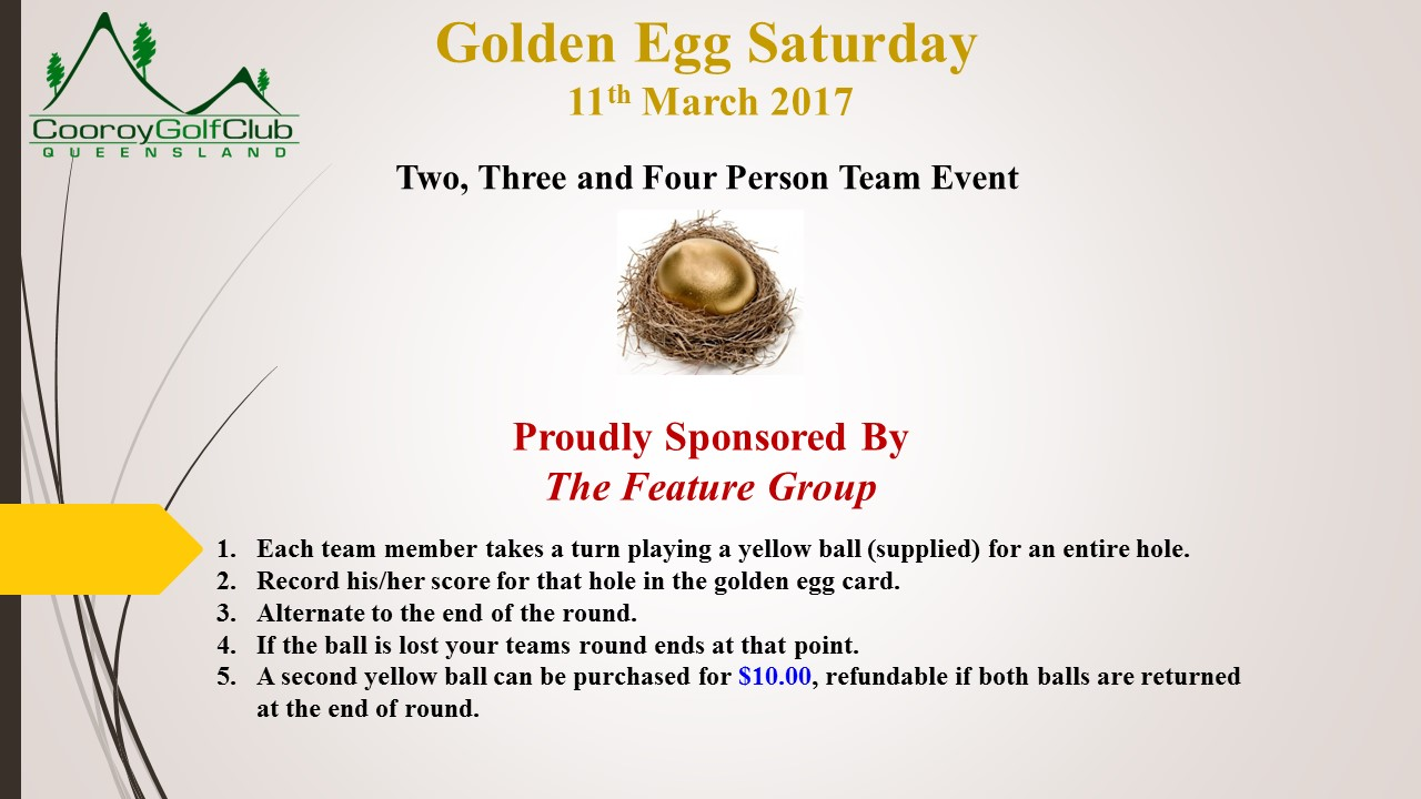 2017 03 11 - Golden Egg Saturday