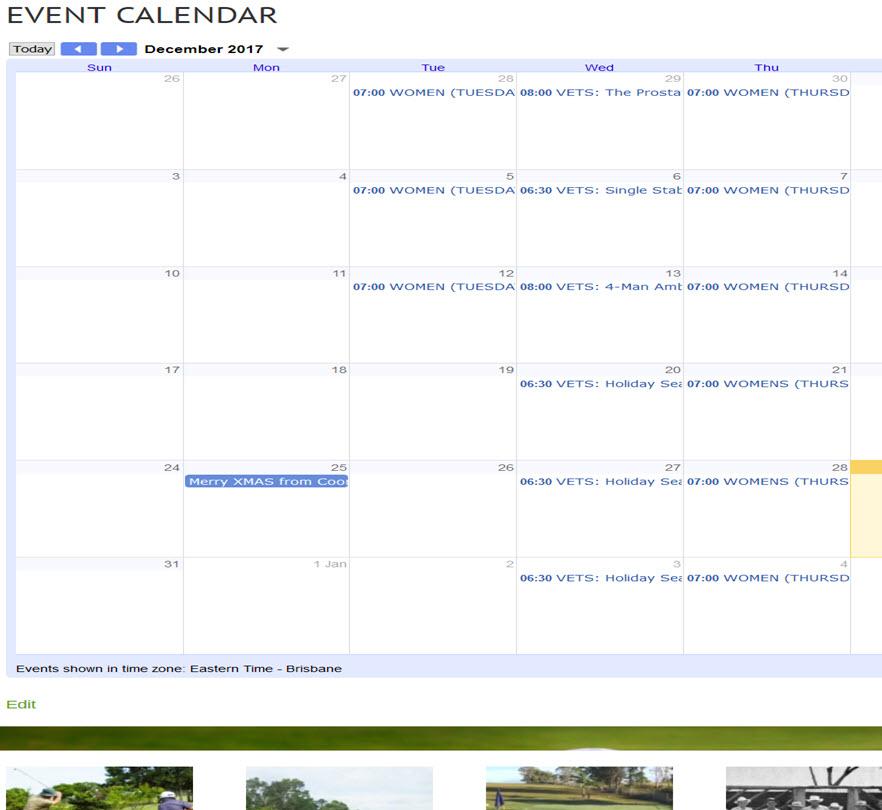 Event Calendar News Update